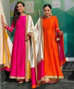 suit Pure Silk Color Block Anarkali Suit designs indian style You are in the right place about clothes for women everyday Here we offer you the most beautiful pictures about the clothe Indian Gowns, Indian Attire, Pakistani Dresses, Indian Wear, Indian Outfits, Mode Bollywood, Bollywood Fashion, Anarkali Gown, Silk Anarkali Suits