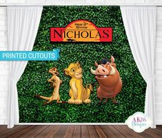 Excited to share this item from my shop: Lion King Cutouts / Lion King Birthday Backdrop / Lion King Birthday / Printed Cutouts / Personalized / Photo Props / Room Decor Lion King Party, Lion King Birthday, 2nd Birthday, Birthday Ideas, Hedgehog Birthday, Lion King Baby Shower, Super Mario Birthday, Le Roi Lion, Backdrop Design