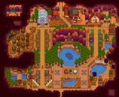 Stardew Valley Layout, Stardew Valley Farms, Farm Layout, Farm Plans, Forest Hill, 3 I, Animal Crossing, City Photo, To Go