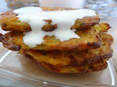Czary w kuchni- prosto, smacznie, spektakularnie.: Cukiniowo- serowe placuszki z jogurtem naturalnym French Toast, Tasty, Lunch, Breakfast, Healthy, Food, Meal, Lunches, Eten