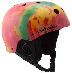 Sandbox Legend Snow EPS Ski/Snowboard Helmet, Gloss Rasta, L/XL