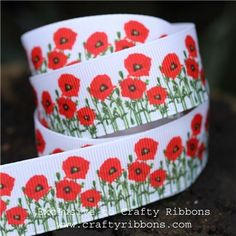 Click to enlarge Spring Ribbons - Poppies