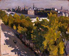 Марке, Альбер. 1875-1947  Набережная Лувра и Новый мост  Франция, 1906 г.