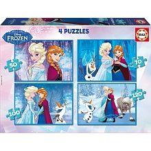 Educa Borrás - Frozen - Puzzle 4 em 1