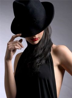 z- Svetlozara Ivanova- w Hat Covering Face, Little Black Dress