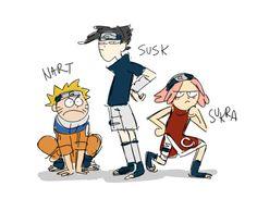 """losassen: """"The gangs all here """" Sasunaru, Naruto Uzumaki, Naruto Sasuke Sakura, Sarada Uchiha, Gaara, Anime Naruto, Boruto, Anime Manga, Blue Exorcist"""