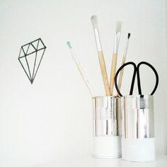 DIY coffee can tool holders (uploaded by original pinner) #DIY