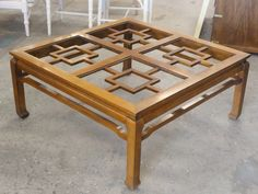 Fretwork Ming Style Coffee Table