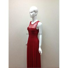 Herve Leger Red Mesh Gown Bandage Dress H450LR