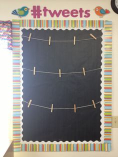 "Great way to display writing! Bulletin Board ideas, ""#tweets"""