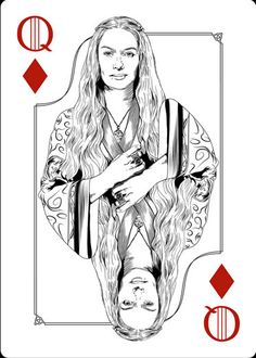 Playing Cards - Queen Of Diamonds, Queen Cersei, Game Of Thrones Playing Cards by Paul Nojima, Time Void - playingcards, playingcardsart, playingcardsforsale, playingcardswithfriends, playingcardswiththefamily, playingcardswithfamily, playingcardsgame, playingcardscollection, playingcardstorage, playingcardset, playingcardsfreak, playingcardsproject, cardscollectors, cardscollector, playing_cards, playingcard, design, illustration, cardgame, game, cards, cardist