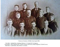 Trustees & Teachers Mt Pleasant, Ut. with C. J. Jensen top right.