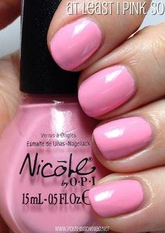 Nopi at least pink so Nail Polish Blog, Best Nail Polish, Fancy Nails, Cute Nails, Opi Nails, Nail Polishes, Nicole By Opi, Pretty Nail Colors, Hair Skin Nails