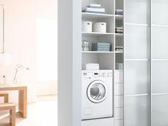 Cabina Armadio Cartongesso Xenia : Colonna porta lavatrice e asciugatrice . facilissimo nascondere la