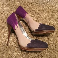 """Jessica Simpson stiletto platform heels Amazing color combination and sadly too small for me. 4.5"""" stiletto with 1"""" platform gives you glorious height. Jessica Simpson Shoes Heels"""