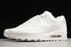 2020 Nike Air Max 90 NRG Sail Sail-Sail CT2007-100  The Air Max 90 NRG Sail celebrates the retro runners 30th anniversary with a monochromatic off-white color scheme intended to function as a clean slate. The pristine finish is executed on a recrafted build that replicates the look of Tinker Hatfields original 1990 design. It comes constructed in a mix of mesh, suede, and leather with debossed tongue tags. Completing the design are special dubraes, with the left reading 1990, and the right… New Nike Air, Nike Air Max, Air Max 1s, Kyrie Irving Shoes, Air Max Sneakers, Sneakers Nike, New Year Deals, Nike Outlet, Clean Slate