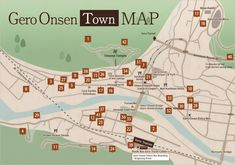 Gero Onsen Town Map | Gero Onsen Ryokan Cooperative Official Website