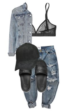 Untitled #1843 by princess-maya13 on Polyvore featuring polyvore, fashion, style, Topshop, Wolford, Puma and clothing