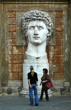 Ancient Statue in the Vatican Museum - Emperor Augustus - Rome