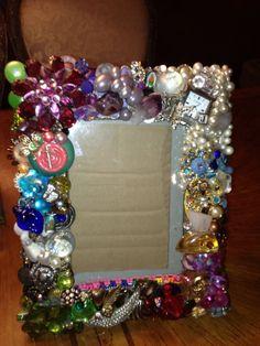 Vintage Jewelry frame fun craft
