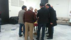 Vino de honor celebrado en las instalaciones de Fomento con la colaboración de Bodega La Encina y Jamoval.