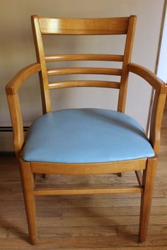 Mid Century Modern Wood Chair Curved Back and Sides by snogirl, $99.00