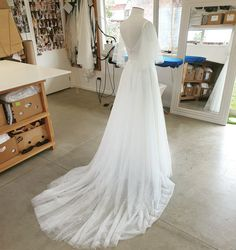 New in the workshop, a pretty tulle wedding dress! #prettyweddingdress #tulleweddingdress