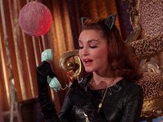 The Cat's Meow Episode aired 14 December 1966 Season 2 Batman 1966, Batman Robin, James Gordon, Batman Tv Series, Julie Newmar, Harley Quinn Comic, Adam West, Classic Tv, Catwoman