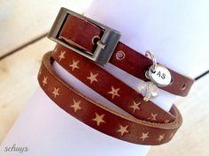 **Allerliebstes Wickelarmband mit Sternen** von schuys auf DaWanda.com