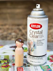 diy wooden peg fairy doll tutorial