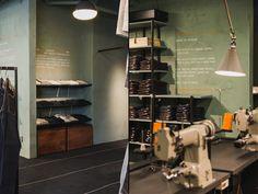 Nudie Jeans Repair Shop, Stockholm Sweden store design