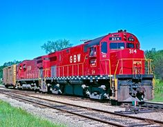 Green Bay & Western Railroad, Alco C424 diesel-electric locomotive in Merrillan, Wisconsin, USA