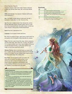 DnD Homebrew — Pixie Race by Polaroid Ninja Dungeons And Dragons Races, Dungeons And Dragons Classes, Dungeons And Dragons Characters, Dungeons And Dragons Homebrew, Dnd Characters, Mythological Creatures, Fantasy Creatures, Mythical Creatures, Fantasy Races