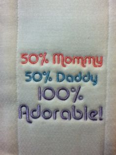 embroidered diaper burp cloth pinkbluepurple by karenhannarosson, $7.99