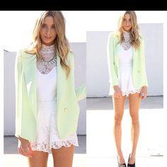 Loving this mint green blazer! #saboskirt