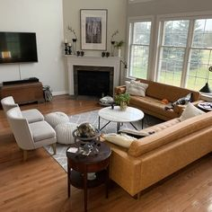 Home Fireplace, Living Room With Fireplace, New Living Room, Living Room Sets, Home And Living, Living Room Designs, Corner Fireplaces, Corner Fireplace Layout, High Ceiling Living Room
