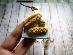 miniature bread  mini ekmekler  Gül ipek   #dollhouse #miniaturefood #minik #minyatür #ekmek #clayart #clay #monaclay #istanbul