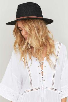 Savannah Black Panama Hat - Urban Outfitters