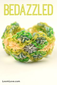 How to Make a Rainbow Loom Bedazzled Bracelet