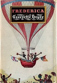 Frederica by Georgette Heyer - Cover art: Arthur Barbosa. I own this exact copy in hardback, which I found in a charity shop and couldn't leave behind, even though I have a paperback (of a different design). One of my favourite Heyers.