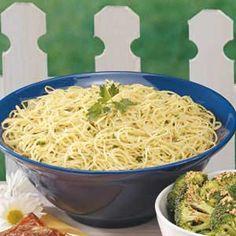 Garlic Parsley Spaghetti Recipe