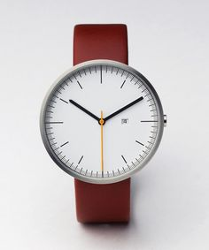 Uniform Wares at Weavers Door | AW12 | | Uniform Wares | Accessories | Watches | 200 Series PVD Brushed / Cherry Red Leather | £240.00