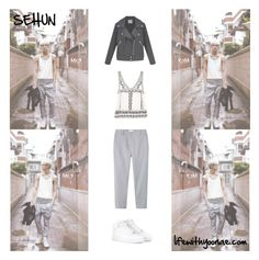 """Inspired by EXO's Oh Sehun Growl Photoshoot"" by the92liner ❤ liked on Polyvore featuring NIKE, Toast, EXO, exok, Sehun, kpopoutfit and inspiredbyoutfit"