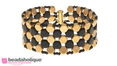 How to Make a Honeycomb Bead Woven Bracelet