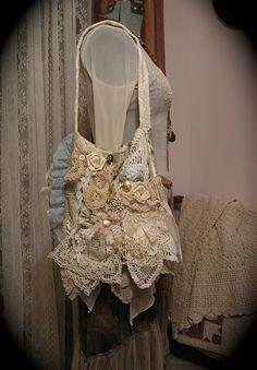 Victorian Gypsy Bag handmade shabby romantic by TatteredDelicates