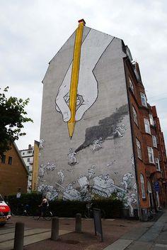 ¡Arte moderno y original en las calles y casas!