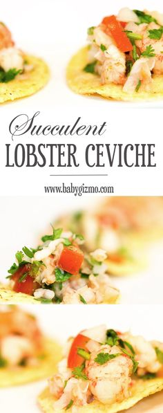 This lobster ceviche is the BEST for entertaining or any Fall party! #appetizer #party #lobster