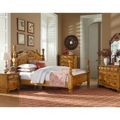 August Grove Rivera Poster Panel Headboard & Reviews   Wayfair Solid Wood Bedroom Furniture, Wood Bedroom Sets, Discount Bedroom Furniture, Cottage Furniture, Bed Furniture, Cheap Furniture, Bedroom Ideas, Farmhouse Furniture, Furniture Stores