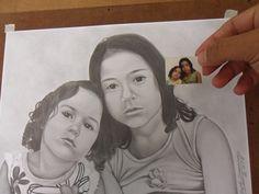 Desenhando Garotinha por Foto 3x4