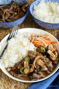 Slimming Eats Low Syn Beef with Mushrooms in Oyster Sauce - gluten free, dairy free, Slimming World and Weight Watchers friendly